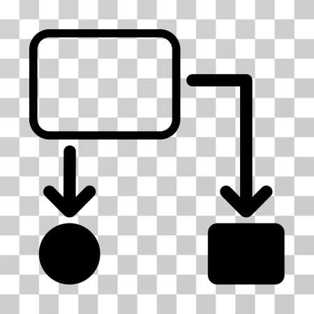 diagrama de flujo: Flowchart Scheme icon. Vector illustration style is flat iconic symbol, black color, transparent background. Designed for web and software interfaces.