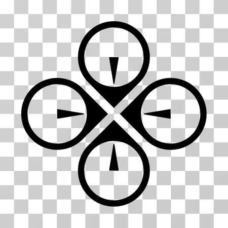 Icona Fly Drone. Lo stile dell'illustrazione di vettore è simbolo iconico piano, colore nero, fondo trasparente. Progettato per interfacce web e software. Archivio Fotografico - 71921964