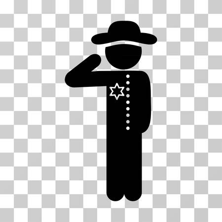 Gentleman Officer icon. Vector illustration style is flat iconic symbol, black color, transparent background. Designed for web and software interfaces. Illustration