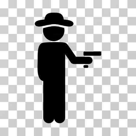 Gentleman Robber icon. Vector illustration style is flat iconic symbol, black color, transparent background. Designed for web and software interfaces.