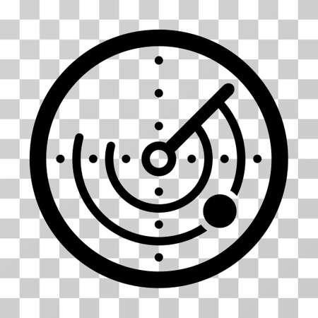 Radar icon. Vector illustration style is flat iconic symbol, black color, transparent background. Designed for web and software interfaces. Illustration