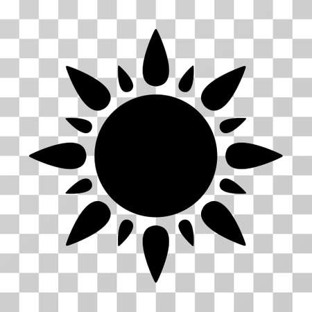 Sun Icon Vector Illustration Style Is Flat Iconic Symbol Black Color Transparent Background