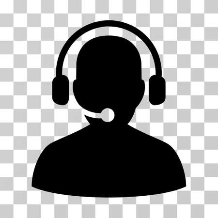telemarketing: Telemarketing icon. Vector illustration style is flat iconic symbol, black color, transparent background. Designed for web and software interfaces. Illustration
