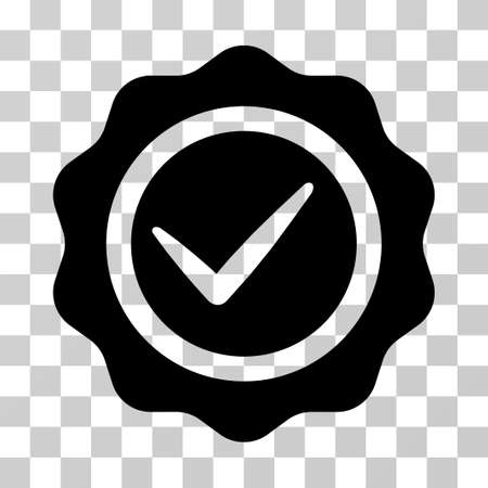 valid: Valid Seal icon. Vector illustration style is flat iconic symbol, black color, transparent background. Designed for web and software interfaces. Illustration