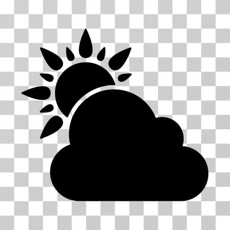 Weather icon. Vector illustration style is flat iconic symbol, black color, transparent background. Designed for web and software interfaces. Illustration