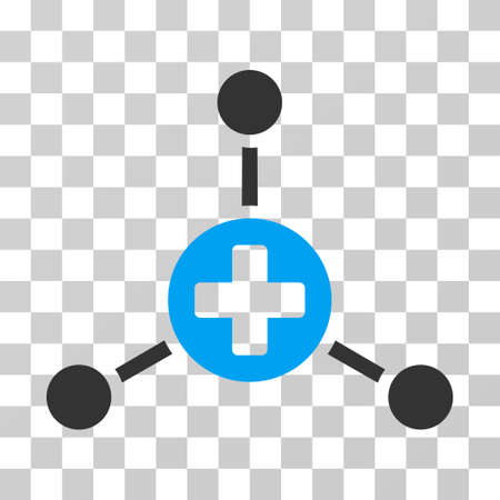 Medical Center icon. Vector illustration style is flat iconic bicolor symbol, blue and gray colors, transparent background. Designed for web and software interfaces.