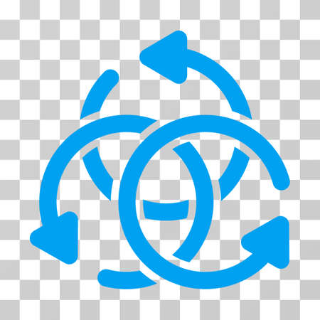 complex navigation: Knot Rotation icon. Vector illustration style is flat iconic symbol, blue color, transparent background. Designed for web and software interfaces. Illustration