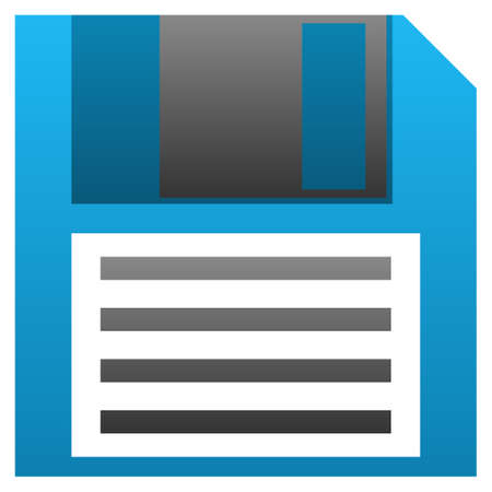 Floppy Disk vector icon. Flat symbol with gradient. Pictogram is isolated on a white background. Designed for web and software interfaces.