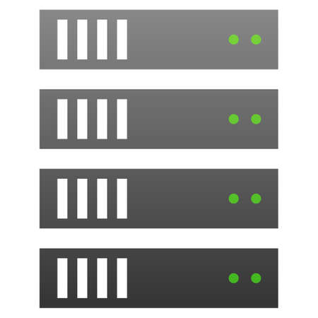 storage device: Server vector icon. Flat symbol with gradient. Pictogram is isolated on a white background. Designed for web and software interfaces.