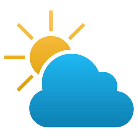climatology: Weather vector icon. Flat symbol with gradient. Pictogram is isolated on a white background. Designed for web and software interfaces.