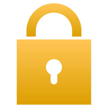 Lock raster icon. Flat symbol with gradient. Pictogram is isolated on a white background. Designed for web and software interfaces. Stock Photo