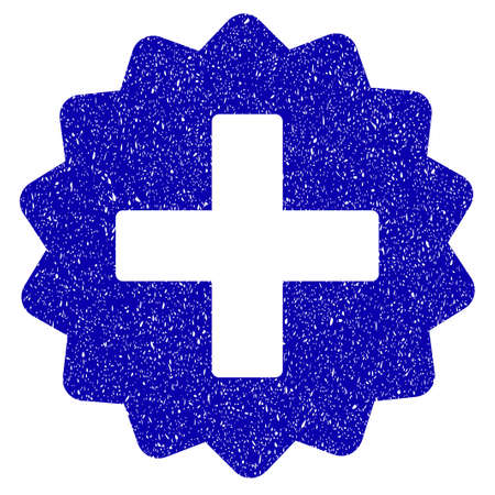 new addition: Grunge Create rubber seal stamp watermark. Icon symbol with grunge design and unclean texture. Unclean raster blue sign. Stock Photo