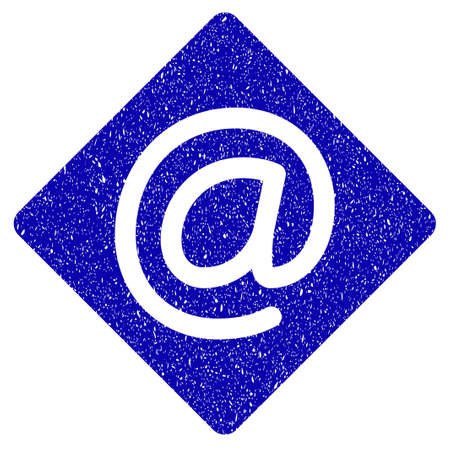 Grunge Email rubber seal stamp watermark. Icon symbol with grunge design and dirty texture. Unclean raster blue sign.