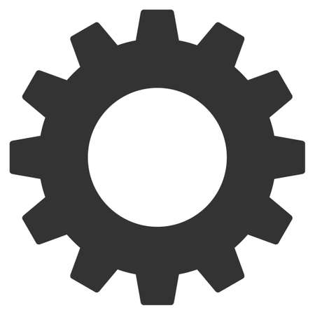 Gear vector icon. Flat gray symbol. Pictogram is isolated on a white background. Designed for web and software interfaces.
