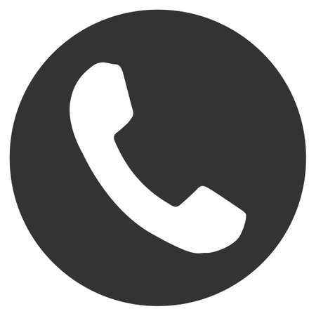 Phone Number Flat Vector Icon With Colored Versions Color Phone
