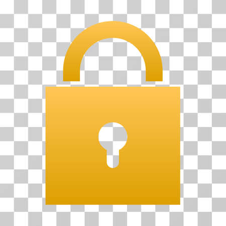 Lock icon. Vector illustration style is flat iconic symbol with gradients, transparent background. Designed for web and software interfaces. Illustration