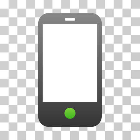 Smartphone icon. Vector illustration style is flat iconic symbol with gradients, transparent background. Designed for web and software interfaces.