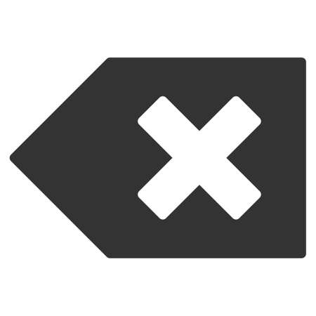 Backspace vector icon. Flat gray symbol. Pictogram is isolated on a white background. Designed for web and software interfaces. Illustration