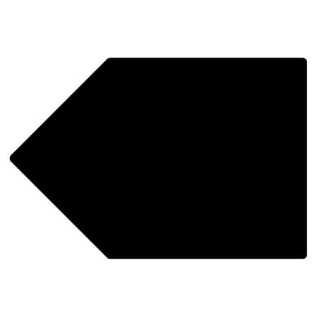 Tag raster icon. Flat black symbol. Pictogram is isolated on a white background. Designed for web and software interfaces.