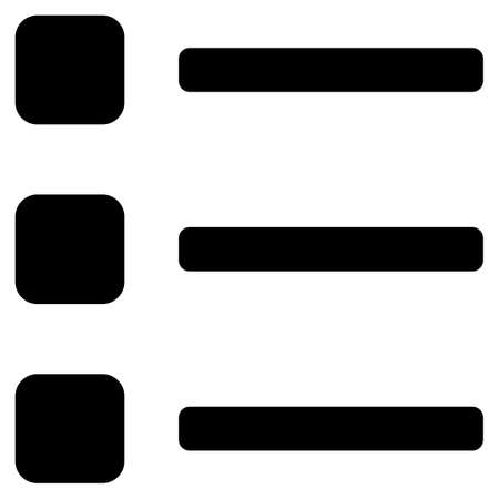 numerate: Items raster icon. Flat black symbol. Pictogram is isolated on a white background. Designed for web and software interfaces.