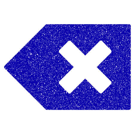 Grunge Backspace rubber seal stamp watermark. Icon symbol with grunge design and dust texture. Unclean vector blue sticker.