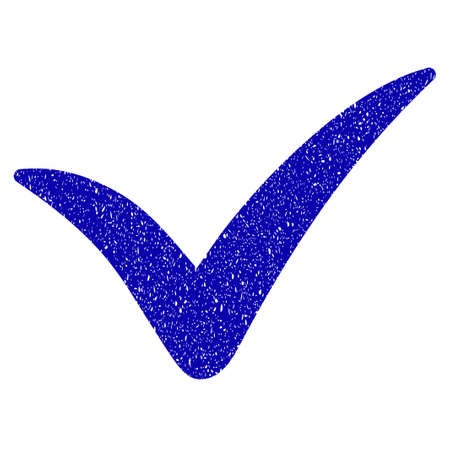 right choice: Grunge Yes rubber seal stamp watermark. Icon symbol with grunge design and dust texture. Unclean vector blue emblem.