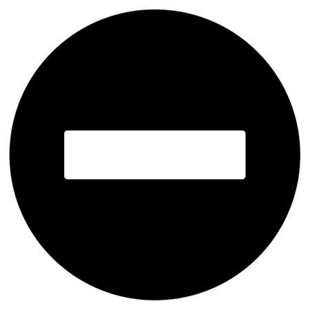 Forbidden raster icon. Flat black symbol. Pictogram is isolated on a white background. Designed for web and software interfaces.