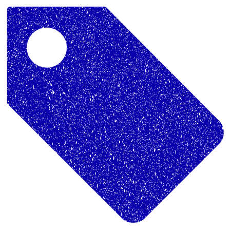 Grunge Tag rubber seal stamp watermark. Icon symbol with grunge design and dust texture. Unclean raster blue emblem.
