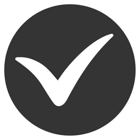 right choice: Apply vector icon. Flat gray symbol. Pictogram is isolated on a white background. Designed for web and software interfaces. Illustration