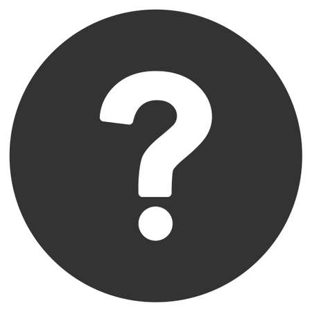 Query vector icon. Flat gray symbol. Pictogram is isolated on a white background. Designed for web and software interfaces.