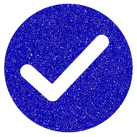 Grunge Apply rubber seal stamp watermark. Icon symbol with grunge design and dust texture. Unclean raster blue sticker.