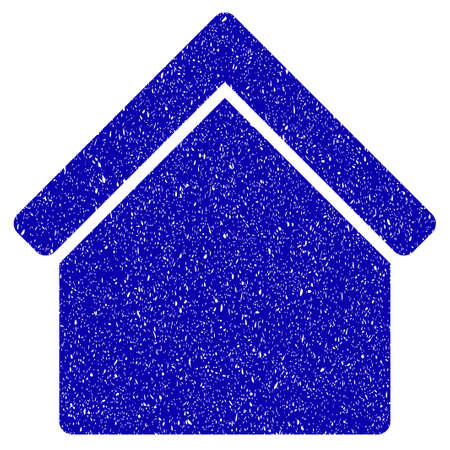Grunge Home rubber seal stamp watermark. Icon symbol with grunge design and dirty texture. Unclean raster blue sign.