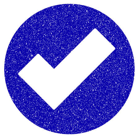 validation: Grunge Apply rubber seal stamp watermark. Icon symbol with grunge design and scratched texture. Unclean vector blue emblem. Illustration