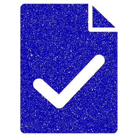 concord: Grunge Valid Agreement Page rubber seal stamp watermark. Icon symbol with grunge design and scratched texture. Unclean vector blue emblem. Illustration