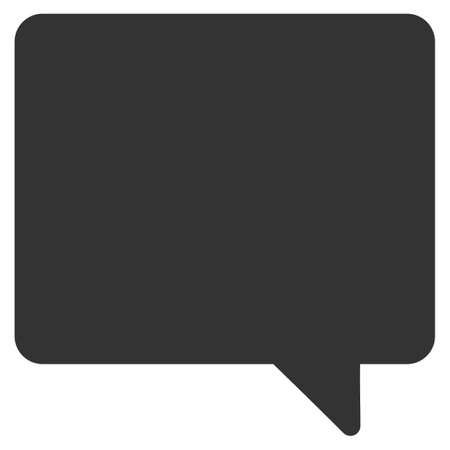 Message raster icon. Flat gray symbol. Pictogram is isolated on a white background. Designed for web and software interfaces.