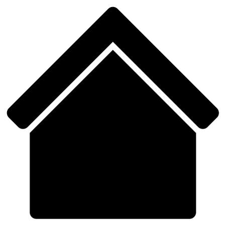 Home vector icon. Flat black symbol. Pictogram is isolated on a white background. Designed for web and software interfaces. Illustration