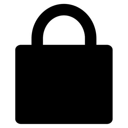 Lock vector icon. Flat black symbol. Pictogram is isolated on a white background. Designed for web and software interfaces.