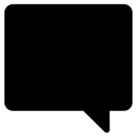 Message vector icon. Flat black symbol. Pictogram is isolated on a white background. Designed for web and software interfaces.