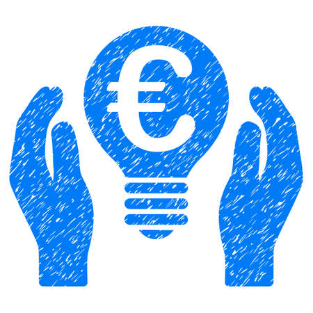 patent: Grunge Euro Patent Care rubber seal stamp watermark. Icon symbol with grunge design and dirty texture. Unclean vector blue sign.