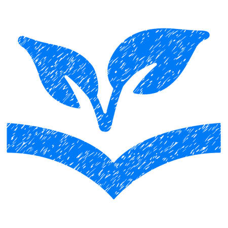 Grunge Flora Knowledge rubber seal stamp watermark. Icon symbol with grunge design and unclean texture. Unclean vector blue emblem.