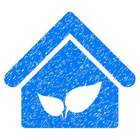 conservatory: Grunge Greenhouse rubber seal stamp watermark. Icon symbol with grunge design and dirty texture. Unclean vector blue sticker.