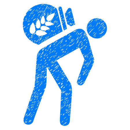 Grunge Harvest Porter rubber seal stamp watermark. Icon symbol with grunge design and dust texture. Unclean vector blue emblem.