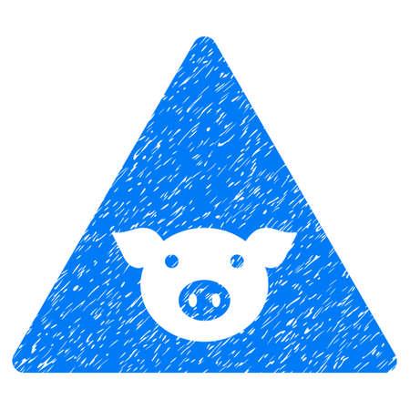 Grunge Pig Error rubber seal stamp watermark. Icon symbol with grunge design and unclean texture. Unclean vector blue sticker.