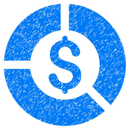 Grunge Currency Diagram rubber seal stamp watermark. Icon symbol with grunge design and dust texture. Unclean raster blue emblem.