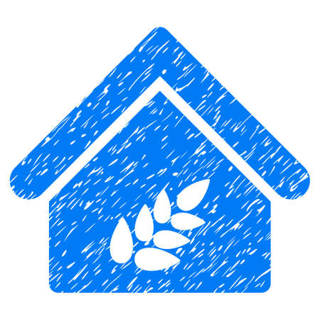 Grunge Grain Warehouse rubber seal stamp watermark. Icon symbol with grunge design and dust texture. Unclean vector blue emblem.
