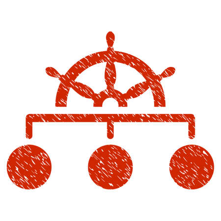 Grunge Rule icon with grunge design and dust texture. Unclean vector red pictogram for rubber seal stamp imitations and watermarks. Draft sticker symbol. Çizim