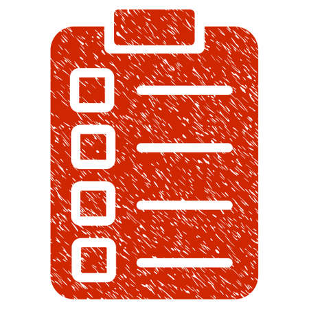 Grunge Test Task icon with grunge design and unclean texture. Unclean raster red pictogram for rubber seal stamp imitations and watermarks. Draft sign symbol. Stock Photo