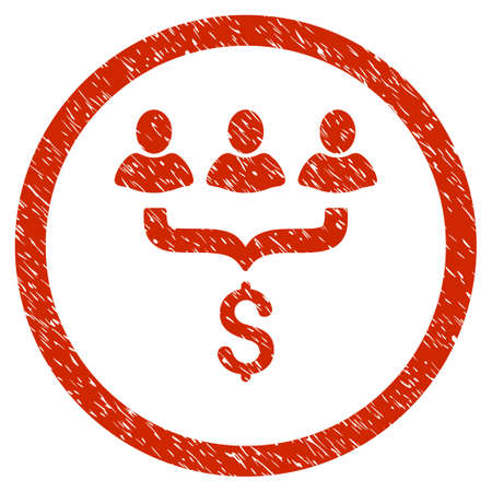 Sales Filter grainy textured icon inside circle for overlay watermark stamps. Flat symbol with dust texture. Circled vector red rubber seal stamp with grunge design.