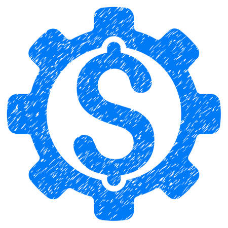 Grunge Payment Options icon with grunge design and unclean texture. Unclean vector blue pictogram for rubber seal stamp imitations and watermarks. Draft emblem symbol. Illustration