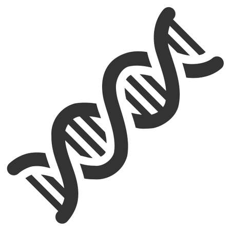 decode: Gray DNA Spiral interface pictogram. Vector pictograph style is a flat symbol on diagonal hatch transparent background.